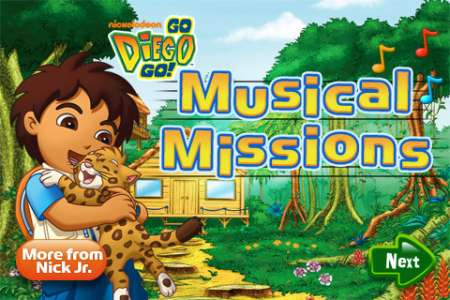 Go Diego Go Musical Missions [1.0] [iPhone/iPod Touch]
