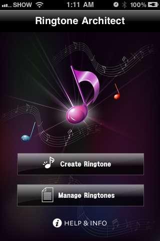 Ringtone Architect [1.1] [iPhone/iPod Touch]