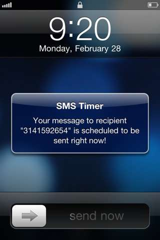 SMS~Timer [1.0] [iPhone/iPod Touch]