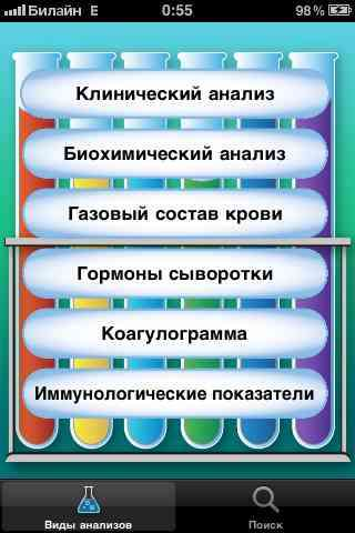 Анализы крови [1.0] [RUS] [ipa/iPhone/iPod Touch]