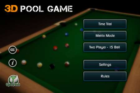 3D Pool Game [1.0.2] [iPhone/iPod Touch]