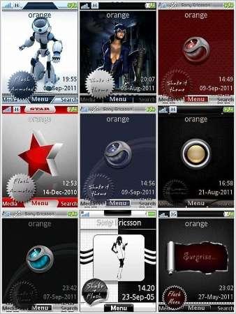 9 тем для Sony Ericsson с fash меню (240x320)