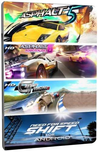 Сборник из 4 HD гонок для Android + Кэш [2010-2011/ENG]