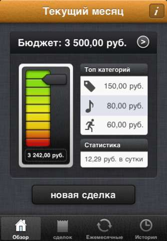MoneyBook - Управление бюджетом v2.6 [RUS] [.ipa/iPhone/iPod Touch]