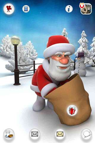 Talking Santa for iPhone v2.0 [.ipa/iPhone/iPod Touch]