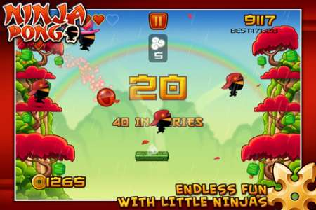 Ninja Pong v1.05 [.ipa/iPhone/iPod Touch]