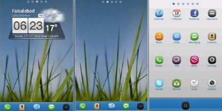 Grass N Sky Go Launcher EX - тема для Android
