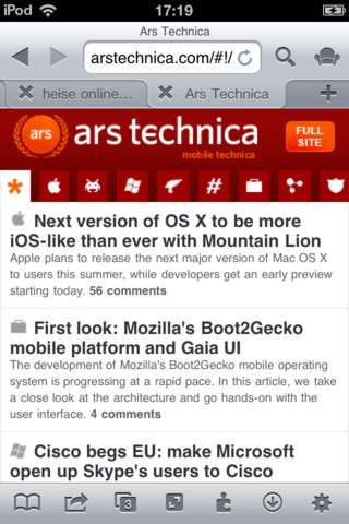 iCab Mobile (Web Browser) [5.7.5] [ipa/iPhone/iPod Touch/iPad]