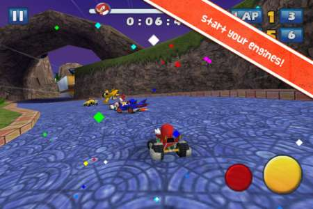Sonic & SEGA All-Stars Racing v1.4 [.ipa/iPhone/iPod Touch/iPad]